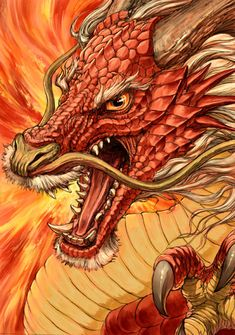 Red Chinese dragon - G.River Drachen 龍