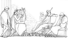 Ulisse piange al canto di Demodoco Libro VIII