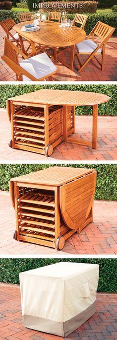 53 Ideas patio dining set wood for 2019 Small Outdoor Patios, Small Backyard Patio, Pergola Patio, Diy Patio, Screened Deck, Outdoor Ideas, Backyard Ideas, Patio Wall, Wood Patio