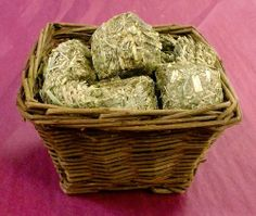 Basket of Timothy Hay Cubes (BB-21) – The Busy Bunny Online Store