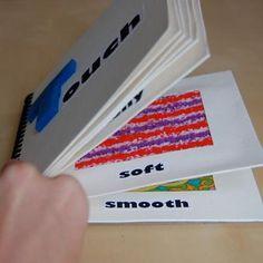 Homemade Sensory Book {Sensory} * make purse size carry- a- long
