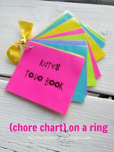 brown paper packages: {chore chart on a ring}
