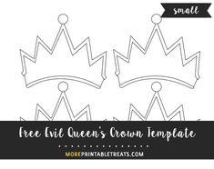 Free Evil QueenS Crown Template  Clipart  Molde Tarjeta