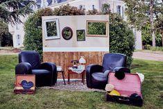 Velvet Rendez-Vous   Location de décoration de mariage Outdoor Furniture Sets, Outdoor Decor, Photo Booth, Decoration, Photos, Velvet, Birthday, Inspiration, Fun Photo