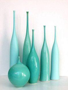 ceramics, turquoise, aqua by Sophie Cook