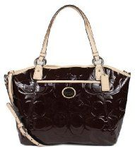 Coach Peyton Signature Embossed Patent Leather Pocket Book From Coach - Bags or Shoes Shop