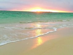 Hawaiian sunset reflected on the sand!!! Bebe'!!! Beautiful beach scenery!!!