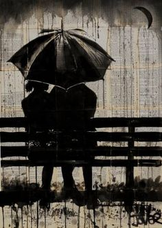 "Saatchi Art Artist Loui Jover; Drawing, ""moments under the crescent moon "" #art"