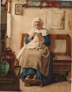Breton peasant girl, (circa 1884) by Jules Trayer :: The Collection :: Art Gallery NSW