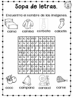 Cuadernillo para-primer-grado Fast Finishers, Teaching, Ely, Word Search, Preschool Worksheets, Wordsearch For Kids, Reading Binder, Reading Comprehension, Kids Writing