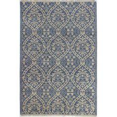"Bashian Rugs Artifact Hand-Knotted Azure Area Rug Rug Size: 8'6"" x 11'6"""