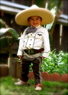 Charrito---Makes me think about having my own boy to dress someday. I should have gotten a picture of my boy dressed like this.