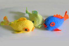 tutorialfelt fish knitted in