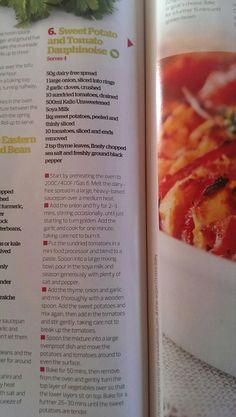 Sweet potato & tomato dauphinoise
