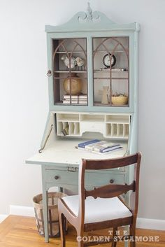 Vintage Secretary Desk Makeover Ideas Within the Grove Furniture Makeover DIY Desk Grove Ideas Makeover Secretary Vintage Paint Furniture, Furniture Projects, Living Room Furniture, Furniture Design, Furniture Logo, Apartment Furniture, Furniture Layout, Furniture Stores, Desk Makeover