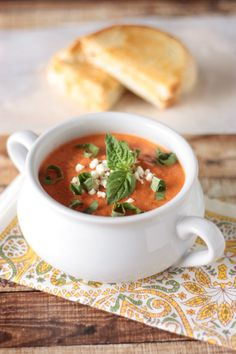 Tomato Feta Soup | Crumbs and Chaos