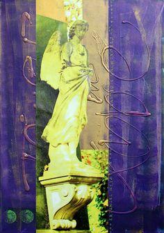 +++ Die Farbe von Erzengel Metatron ist Violett gemischt mit Grün. Metatrons Name bedeutet »Engel der Gegenwart«. Er steht für die heilige Geometrie und unterstützt spirituelle Heilungsarbeit. Metatron hilft hochsensitiven Menschen, z.B. Indigo- und Kristallkindern und unterstützt organisatorische Fähigkeiten zu entwickeln. +++ Seine Botschaft: »Du bist grossartig & machtvoll!« +++ »all about angels« Erzengel Metatron | 70 x 100 cm | Foto/Stempel/Acryl auf Leinwand | © Stefanie Marquetant…
