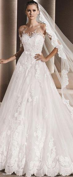 The Chic Technique: La Sposa 2016 Tulle princess wedding dress Beautiful Wedding Gowns, Beautiful Bride, Elegant Wedding, Dead Gorgeous, Wedding Veils, Lace Wedding, 2016 Wedding Dresses, Princess Wedding Dresses, Bridal Dresses
