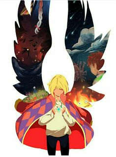 Howls Moving Castle-it's really good if you haven't watched it yet GO WATCH IT ITS SOOOO GOOD