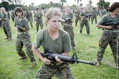 Female U.S. Marines Recruits http://avaxnews.net/appealing/Female_US_Marines_Recruits.html