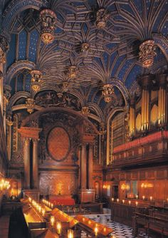 Hampton Court Royal Chapel, London  Loved this space! You can't take photos there when you visit, so it will mean a trip back to see Hampton Court again.