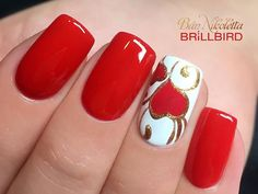 Ideas Nails Acrylic Glitter Red Valentines Day For 2019 day nail. - Ideas Nails Acrylic Glitter Red Valentines Day For 2019 day nail… Ideas Nail - Valentine's Day Nail Designs, Fingernail Designs, Nails Design, Heart Nail Designs, Red Nail Art, Red Nails, White Nails, Gold Nail, Pastel Nails