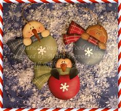 The Decorative Painting Store: Trio of Winter Friends Pattern, Christmas, Winter, & Snowmen