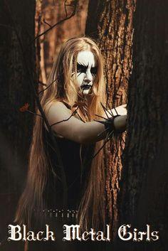 Forest People by Michael Krasnoslobodtsev on Black Metal, Black Art, Forest People, Dark Queen, Rocker Chick, Extreme Metal, Male Makeup, Metal Girl, Metalhead