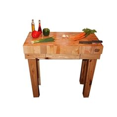 x Michigan Maple Gathering Block with Hickory Base, handcrafted by McClure Tables Maple Butcher Block, Butcher Block Kitchen, Kitchen Islands, Made In America, Furniture Making, Chefs, Natural Wood, Solid Wood, Michigan
