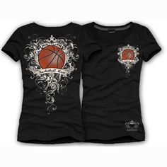 """Black S/S BASKETBALL MOM T-Shirts Brand new Sports Design! Show support for your favorite teams """"Basketball Mom"""" Round Neck Shortsleeve fitted cotton lycra t-shirt Basketball design on front & back with rhinestones MADE IN THE USA Katydid Collection Basketball Shirt Designs, Basketball Mom Shirts, Basketball Is Life, Volleyball Mom, Basketball Design, Football And Basketball, Sports Shirts, Basketball Stuff, Softball"""