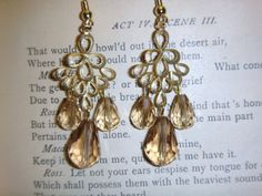 champagne/gold jewelry