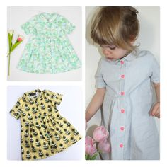 GRATIS patroon - vestido camisero Lucy Jurk (maat - Iris May Sewing Kids Clothes, Baby Kids Clothes, Sewing For Kids, Baby Sewing, Childrens Sewing Patterns, Kids Patterns, Clothing Patterns, Couture Bb, Lucy Dresses