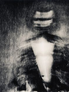 Lee Fisher: A darkroom print of a self portrait using analog processes. This was shot using a long exposure, alternative chemistry, and my girlfriend's ...
