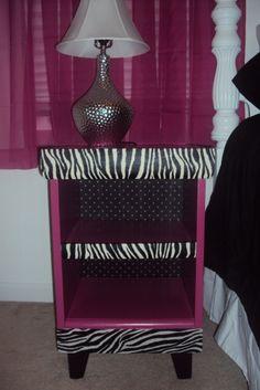 Zebra Accented Tween Bedroom.