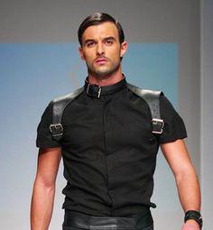 harness, leather, men, gun holster style