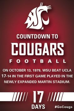 Countdown to Cougars Football - 17 Days #GoCougs