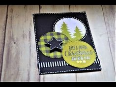 October 2017 Paper Pumpkin Alternative Project: Tags and Card Stampin Up Christmas, Merry Little Christmas, Winter Christmas, Christmas Crafts, Christmas 2017, Diy Holiday Cards, Xmas Cards, Diy Cards, Stampin Up Weihnachten