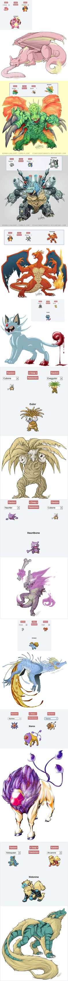 Pokemon Fusion Art ~ freaky yet cool http://www.wdb.es/funny/117/#