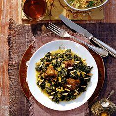 ESSEN & TRINKEN - Grünkohl-Curry mit Couscous und Datteln Rezept - Gesundes Gemüse: Kohl Just omit the couscous