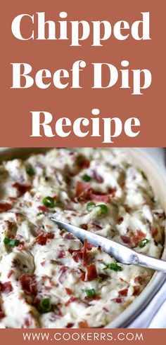 Chipped beef is slated, smoked dried beef that has been sliced paper thin. Chipped beef was once an American kitchen staple and is also known as dried beef. Look for chipped beef in small jars or plastic zip bags at the grocery store. Beef Appetizers, Easy Appetizer Recipes, Appetizer Dips, Dip Recipes, Easy Dinner Recipes, Summer Recipes, Beef Recipes, Party Appetizers, Fall Recipes