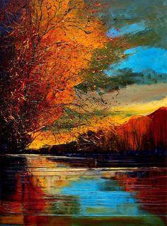 Obra de la pintora polaca Justyna Kopania