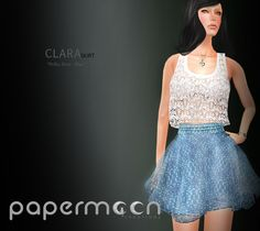 PaperMoon- CLARA Skirt-  Polka Dots - Blue