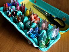 Store Thread in an Egg Carton - Simple Solutions for Craft Room Clutter  on HGTV