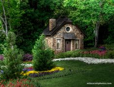 My cozy cobblestone cottage in the woods ~ of my dreams.
