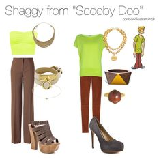 """""""Shaggy from """"Scooby Doo"""""""" by bforbel ❤ liked on Polyvore featuring Disney, Jardin des Orangers, Michael Kors, Jessica Simpson, Kelsi Dagger Brooklyn, Mociun, Monsoon, Oasis, Chanel and Pieces"""