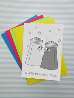 Funny Seasons Greetings Card Happy #Christmas Puns by cushobi
