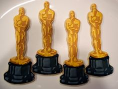 The Academy Awards Oscar Cookies - Semi Sweet Designs