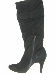 BANDOLINO 'JESS' Women's Shoes Black Suede Knee High Boots US Size 9.5