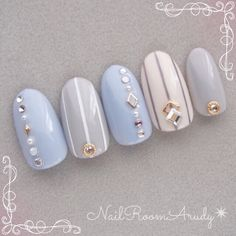 Pretty gel nails set for winter
