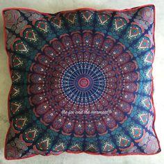 Dog bed cushion cover, Boho dog bedding, huge mandala tapestry dog bed cover, mandala tapestry floor cushion, mandala floor pillow cover